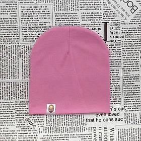 Шапка однотонна для дівчинки до року. Насичено рожевий. УЦІНКА!!!!!