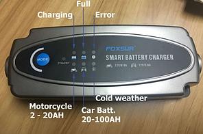 Автоматическое зарядное устройство для батарей на 6 и 12 Вольт, от 4 до 100Ач, фото 3