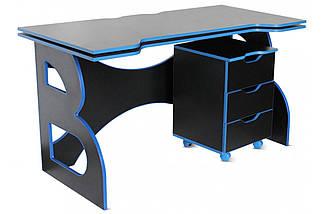 Стол с мобильной тумбой Barsky Game Blue HG-04/CUP-04