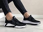Жіночі кросівки Adidas (чорно-сірі з білим) 9354, фото 2
