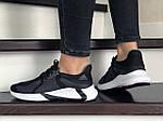 Жіночі кросівки Adidas (чорно-сірі з білим) 9354, фото 3