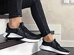 Жіночі кросівки Adidas (чорно-сірі з білим) 9354, фото 4