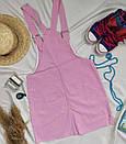 Жіночий джинсовий сарафан рожевий, фото 2