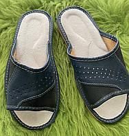 Домашние мужские кожаные тапочки, 40 размер уценка, фото 1