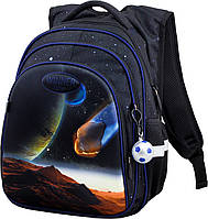 Рюкзак школьный ортопедический 1-4 класса для мальчика 3D рисунок Космос 29*19*38см Winner One R2-170