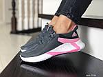 Женские кроссовки Adidas (серо-белые с розовым) 9356, фото 2