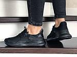 Жіночі кросівки Adidas (чорні) 9357, фото 3