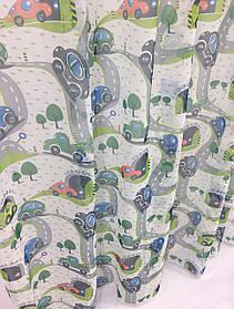"""Детская тюль """"Машинки Зеленые"""", 3 метра"""
