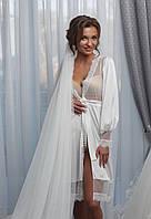 Пеньюар кружевной для невесты