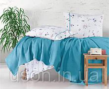 Комплект постельного белья с вафельным покрывалом 220*240 Pike TM Aran Clasy Metali V4