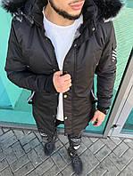 Мужская теплая куртка Off-White черная