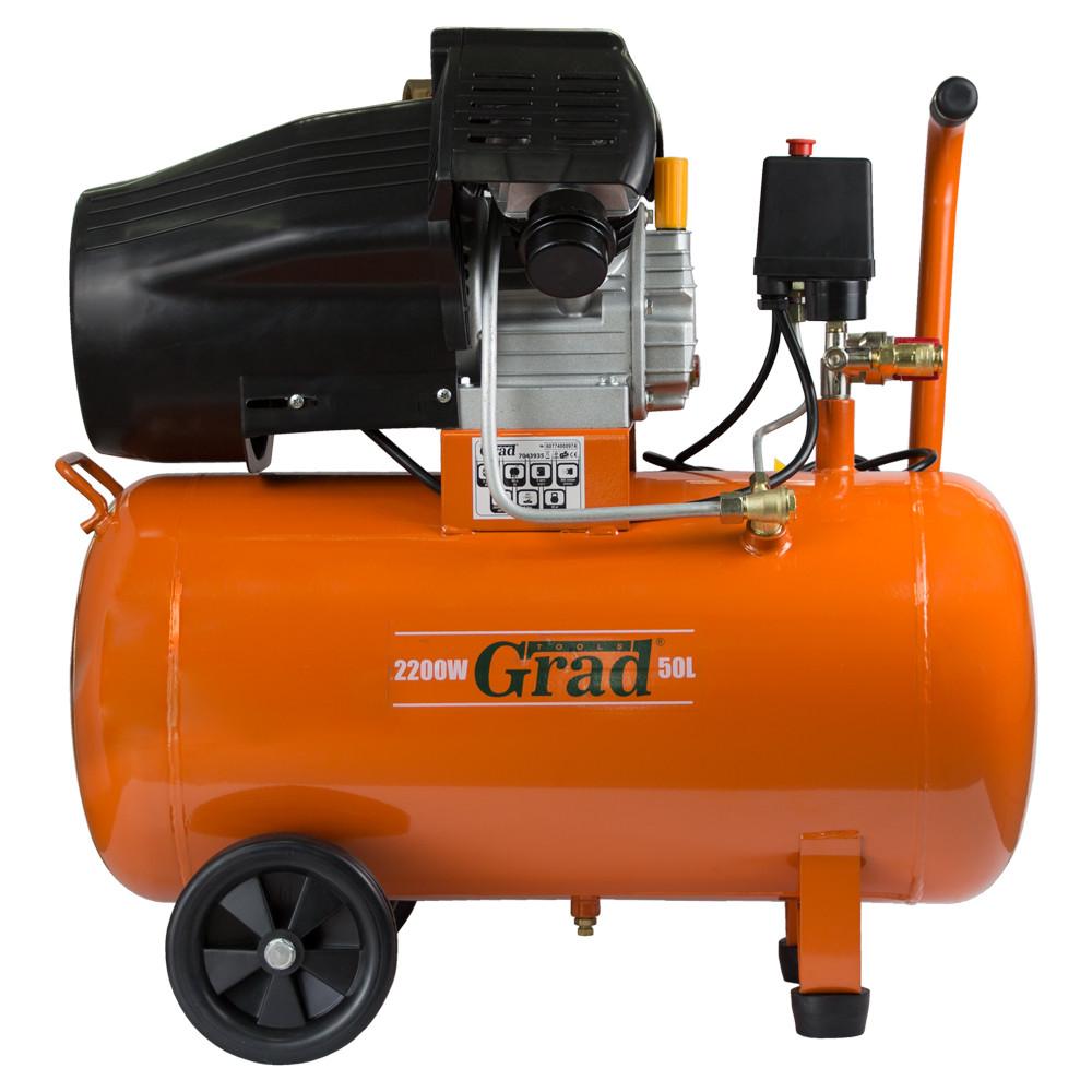 Компрессор GRAD 50L V, 2.2 кВт