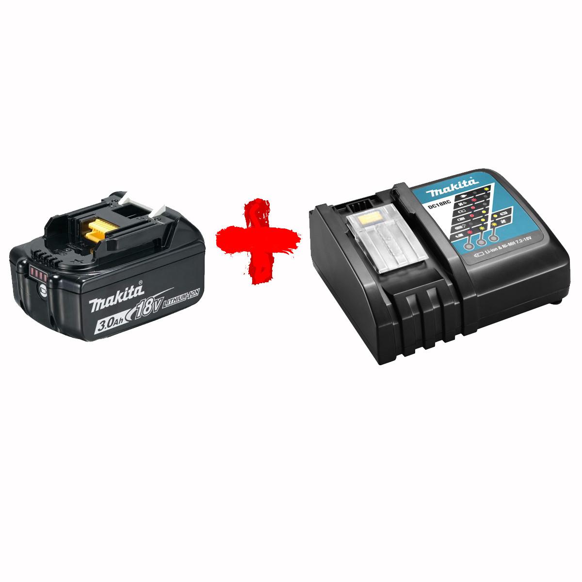 Набор аккумулятора и зарядного устройства Makita (BL1830B DC18RC)