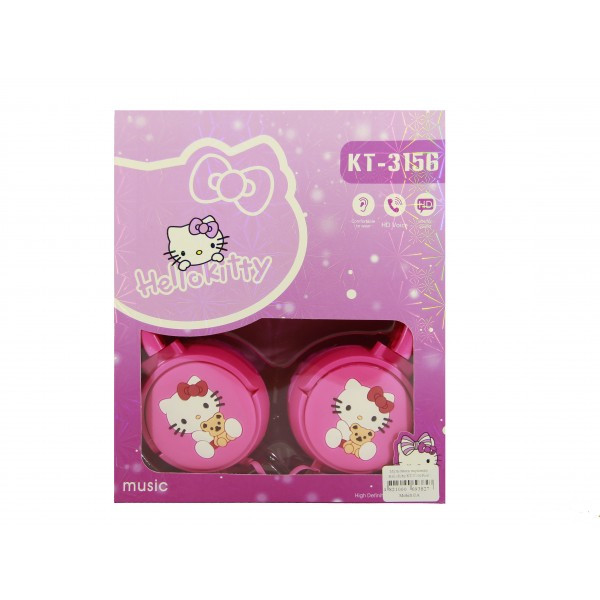 Мультимедийные Наушники HelloKitty KT-3156 Pink