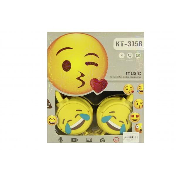 Мультимедийные Наушники Emoji KT-3156 Yellow