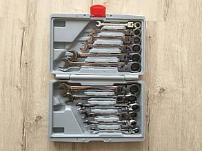 Набір рожково-накидних ключів з тріскачкою на кардане 12 шт LEX 1578