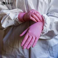 Рукавиці нітрилові Nitrylex® Pink, рожевий, XS, 100 шт, 50 пар, нестерильні, без пудри