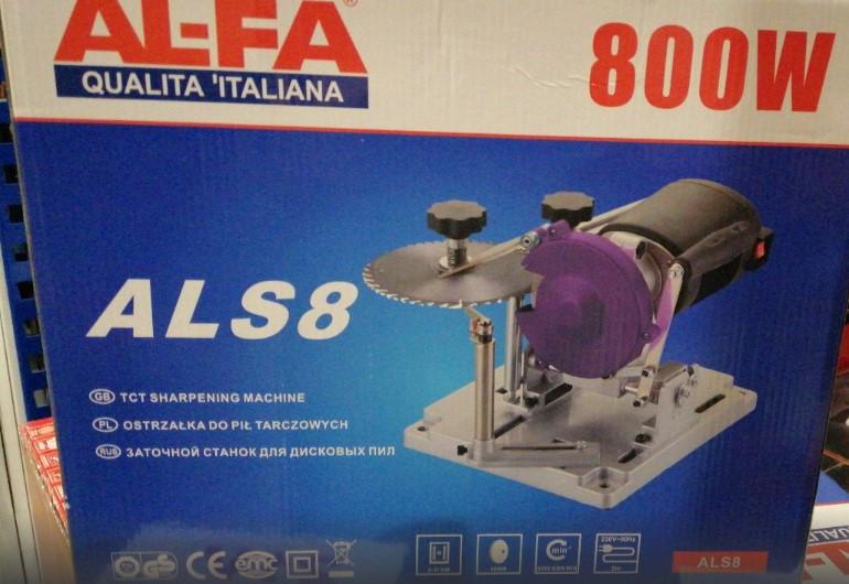 Верстат для заточування побідитових дисків  AL-FA ALS8
