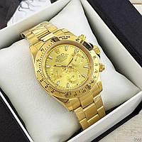 Механические мужские часы в стиле Rolex Daytona Реплика AAA класса в золотом цвете