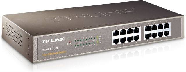 Коммутатор TP-LINK TL-SF1016DS (16-port 10/100 Мбит, металл)