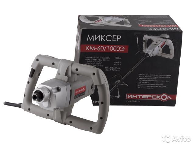 Миксер стоительный Интерскол КМ-60/1000Э
