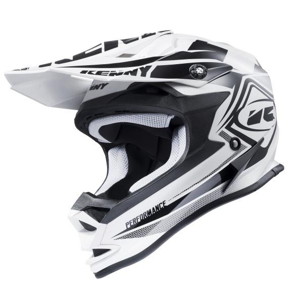 Шлем кроссовый Kenny Performance White/Black