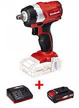 Набор ударный гайковерт бесщеточный Einhell TE-CW 18Li BL - Solo + зарядное устройство и аккумулятор 18
