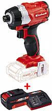 Набір ударна викрутка безщіткова Einhell TE-CI 18 Li BL-Solo + зарядний пристрій і акумулятор 18V