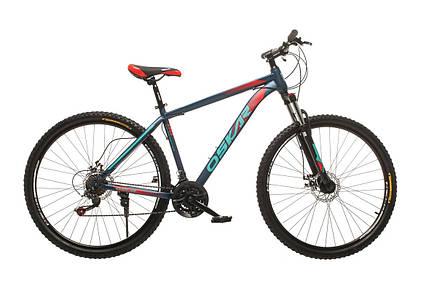 """Велосипед горный Oskar 29"""" M134 Алюминий Синий с амортизацией Хардтейл Велосипед гірський MTB синій, фото 2"""