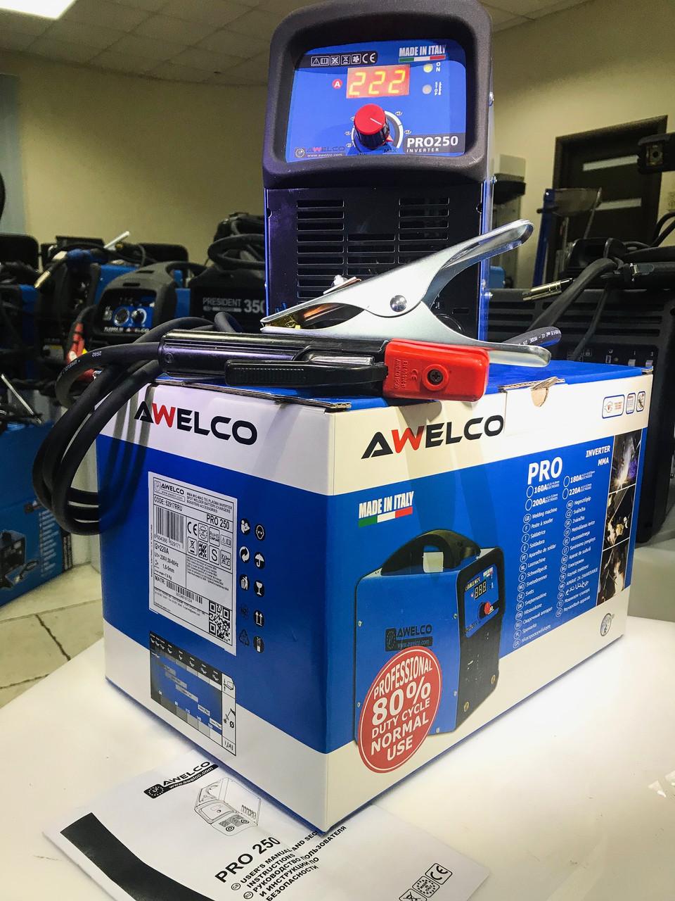 Сварочный инвертор с цифровым дисплеем / PRO 250 AWELCO 52917RRU (Италия)