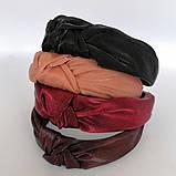 Обідок модний з вузликом. обідок Чалма. Люрекс різні кольори, фото 4