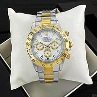 Механические мужские часы в стиле Rolex Daytona AA Silver-Gold-White
