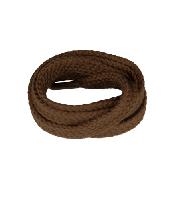 Коричневые плоские шнурки для обуви Kaps, 75 см / 8 мм (пара)