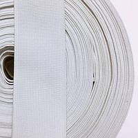 Резинка тканная мягкая 40мм цв белый (уп 25м) 2119 Укр-б