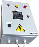 Шкаф (пульт) управления одноступенчатой горелкой с встроенным терморегулятором.
