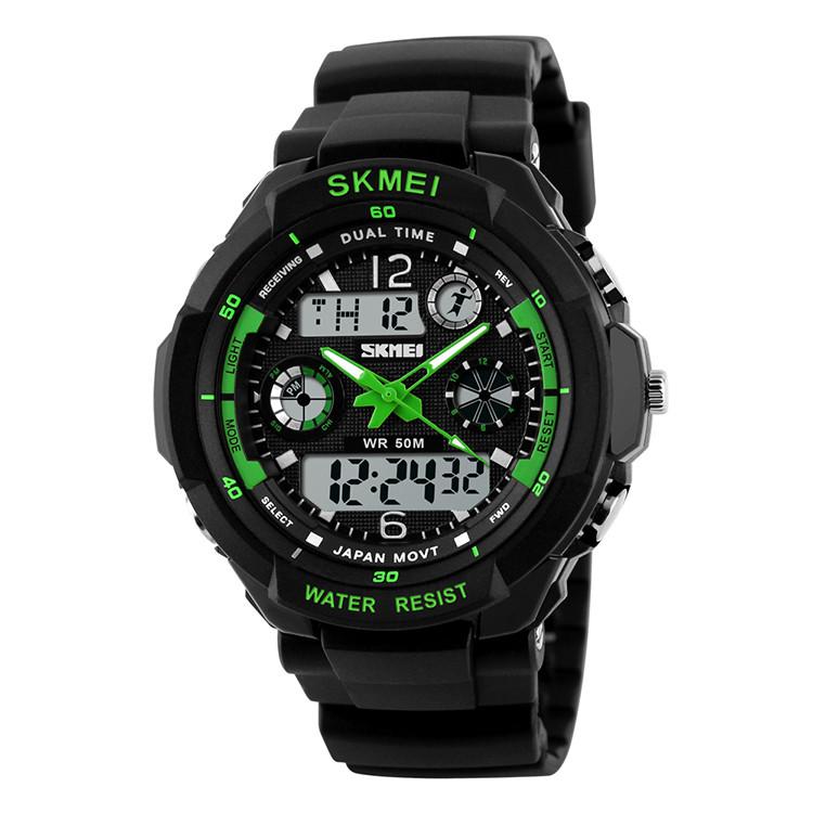Детские спортивные часыSkmei 1060 s-shock  зеленые