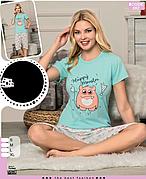 Пижама женская футболка и капри хлопок 100 % Т.М SAFIR Турция № 444