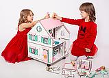 """Кукольный домик NestWood """"Сказочный"""" на подставке 2х-сторонний для кукол ЛОЛ, 4 комнаты (этаж 20см), фото 3"""