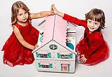 """Кукольный домик NestWood """"Сказочный"""" на подставке 2х-сторонний для кукол ЛОЛ, 4 комнаты (этаж 20см), фото 5"""
