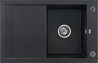 Кухонна мийка KERNAU KGS M 45 1B1D BLACK METALLIC, фото 1
