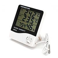 Цифровий термометр годинник гігрометр з виносним датчиком HTC-2