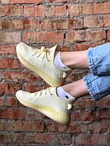 """Жіночі кросівки Adidas Yeezy 350 V2 """"Butter"""" Yellow, фото 3"""