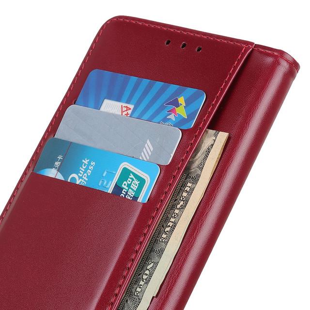 Чехол книжка с магнитной застежкой красный для Realme XT - 1