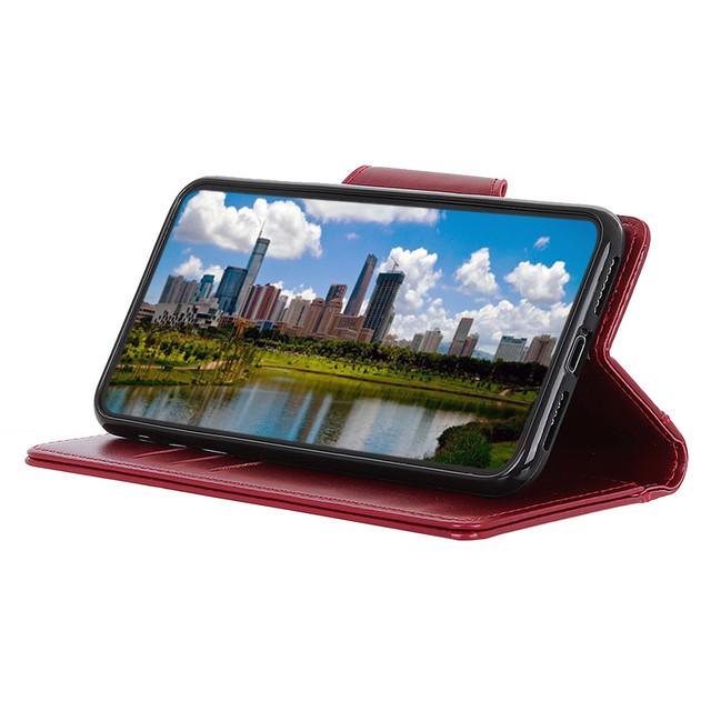 Чехол книжка с магнитной застежкой красный для Realme XT - 2