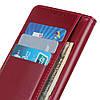 Чехол книжка для Realme XT RMX1921 боковой с отсеком для визиток и магнитной застежкой, Красный, фото 6
