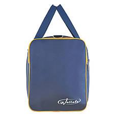 Дорожная сумка средняя Wallaby 54х32х24 ткань нейлон 420 Ден синяя  в 340син ж, фото 3