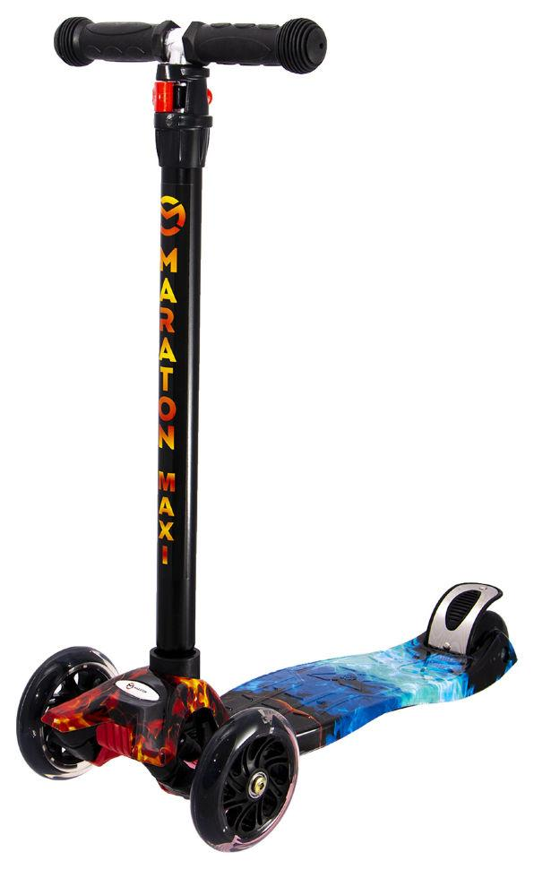 Самокат детский трехколесный Maraton Maxi-B со светящимися колесами