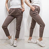 Женские красные зауженные брюки, фото 5