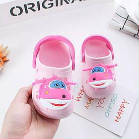 Крокси дитячі для дівчинки Мікс блідо-рожеві розмір 26,28 Київ