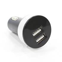 Автомобильное З/У Rosekey USBx2 Grey 12-24В для навигатора смартфона, фото 3